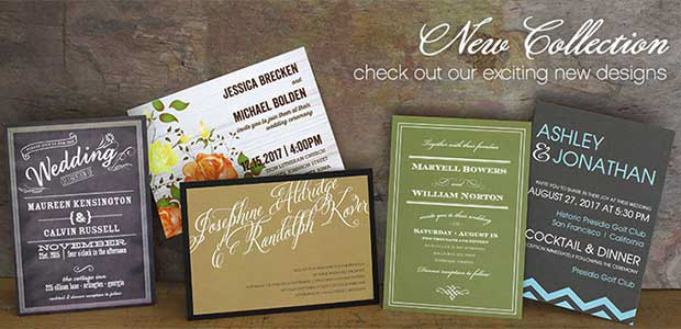 New wedding invitation designs