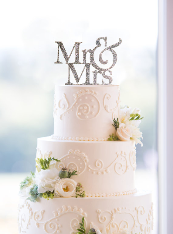mr.&mrs. cake topper
