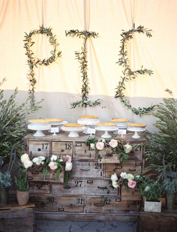 Unique Wedding Reception Dessert Bar