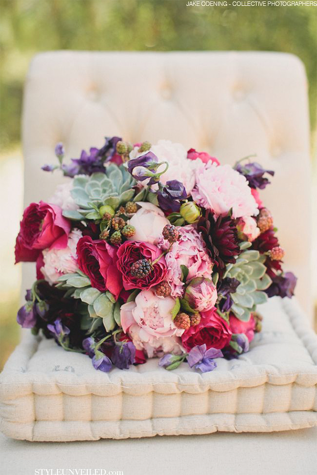 Wedding Color: Berry Tones