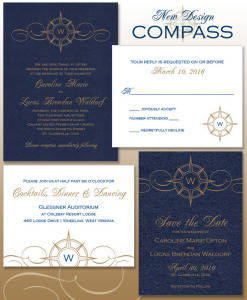 Compass Wedding Invitation - New Design
