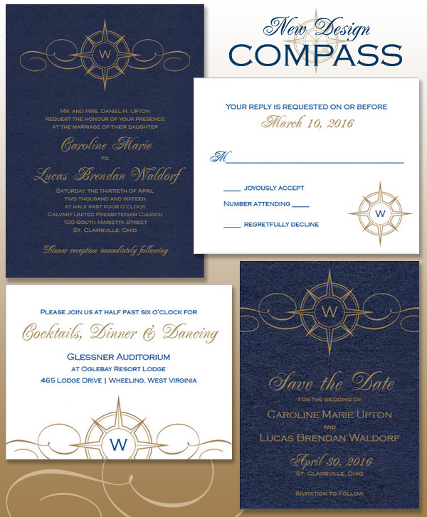 Compass Wedding Invitation Suite