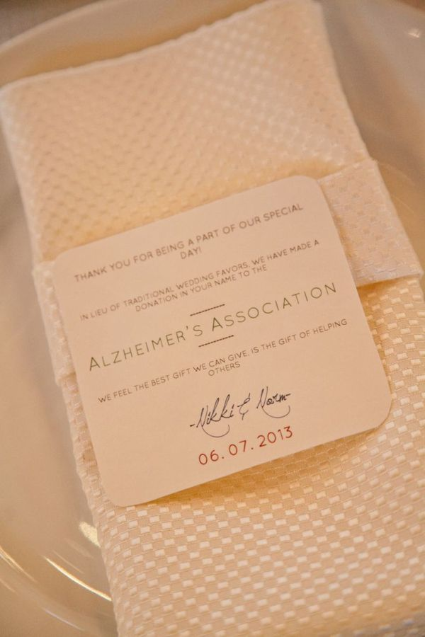 Ideas In Lieu Of Wedding Gifts : Donation in Lieu of Wedding Favor