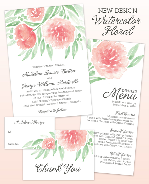 New Design Watercolor Floral American Wedding Wisdom