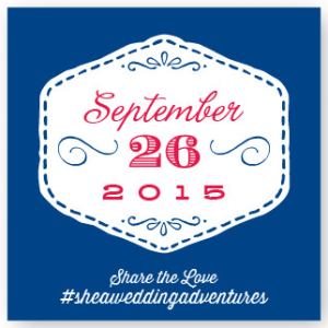 Custom Wedding Hashtag Stickers