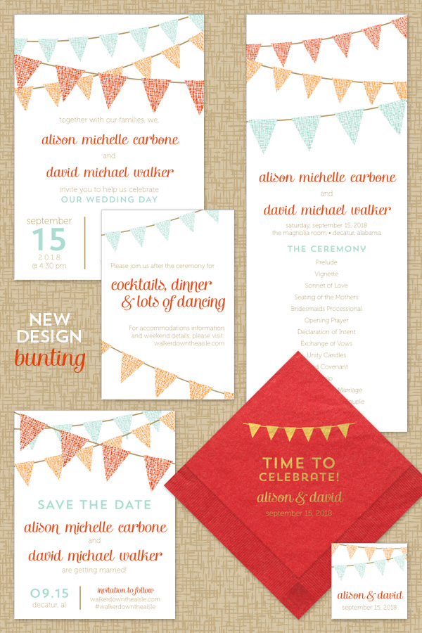 New Design: Bunting - American Wedding Wisdom