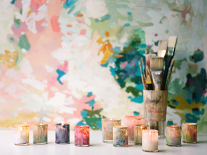 DIY Painted Glass Votives
