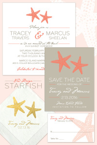 Starfish Wedding Invitation Suite