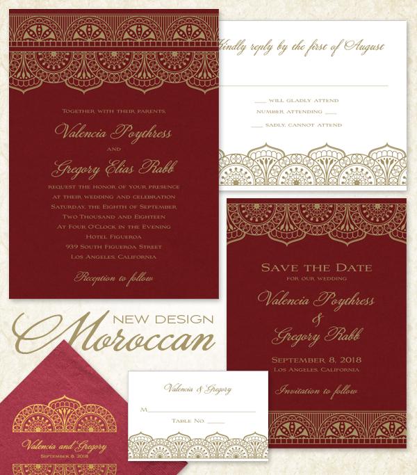 Moroccan Wedding Invitation Suite