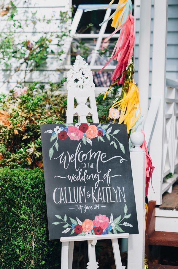 Creative chalkboard wedding ideas
