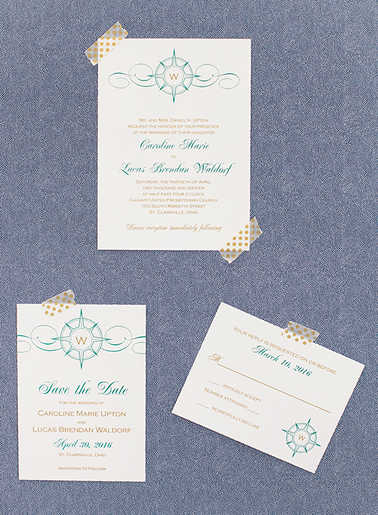 Compass Wedding Invitation