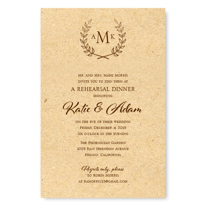 Rehearsal Dinner Invitations Etiquette
