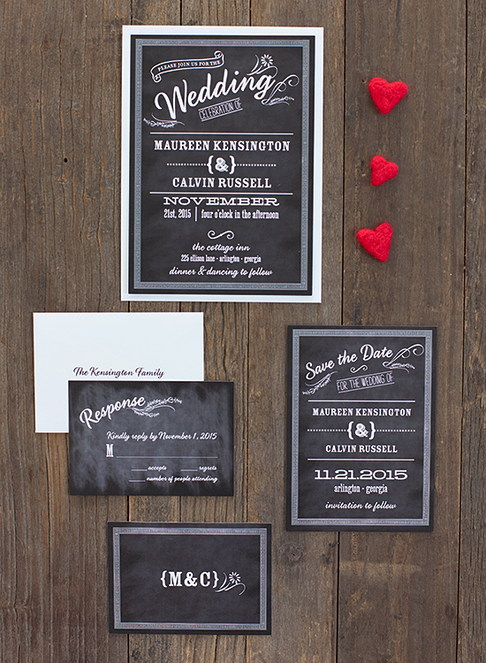 Margo Chalkboard Wedding Stationery Suite