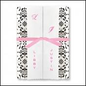 Black and White Folder Wedding Invitations