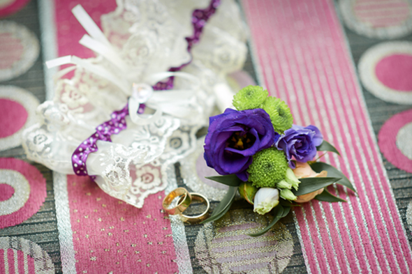 Garter and Rings on Table