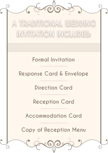 Traditional Wedding Invitation Information