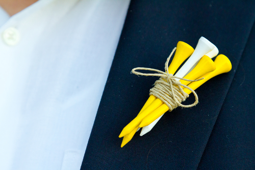 Golf tee Boutonnieres