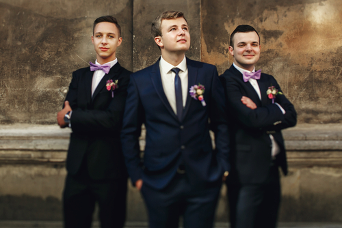 Unique Boutonnieres on groomsmen