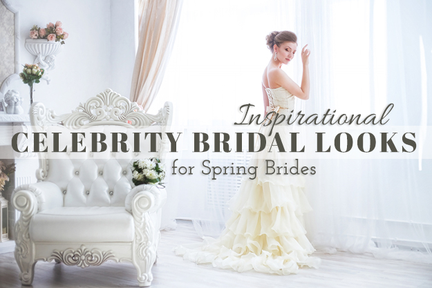 Inspirational Celebrity Bridal Looks for Spring Brides
