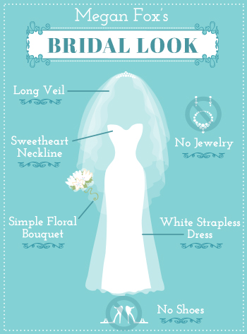Megan Foxs Bridal Look