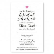 bridal shower invitation graphic