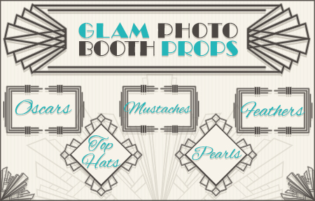 glam photo booth props graphic