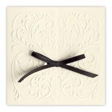 invitation envelope with embossed filigree