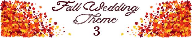 Fall wedding theme 3