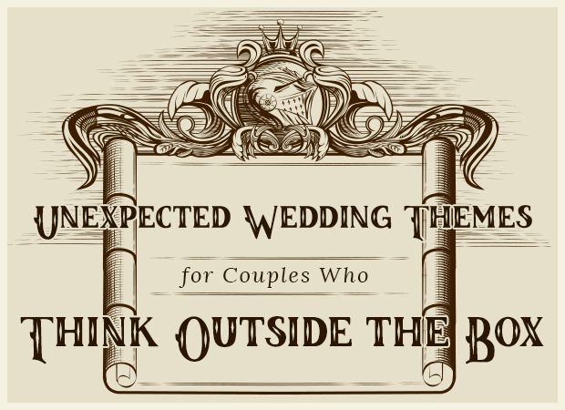 unexpected wedding themes for couples who think outside the box