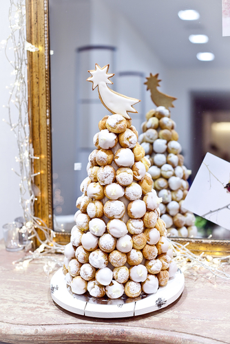 tree fashioned with croquembouche