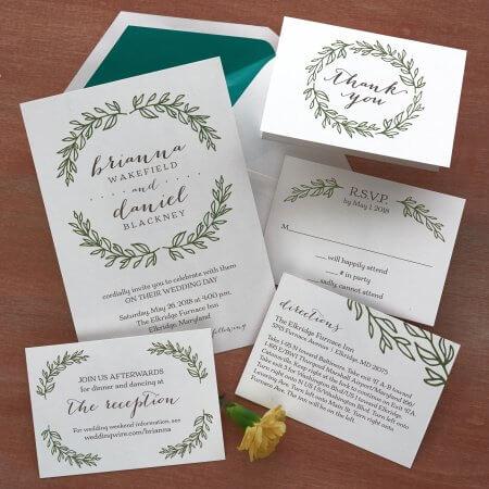 Grecian Inspired Invitations