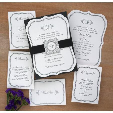 Monogrammed Invitations