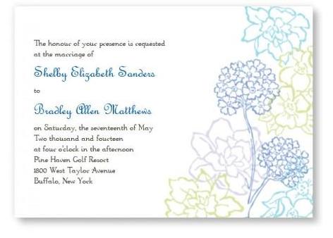 flower wedding invite