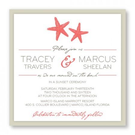 sea themed wedding invitation