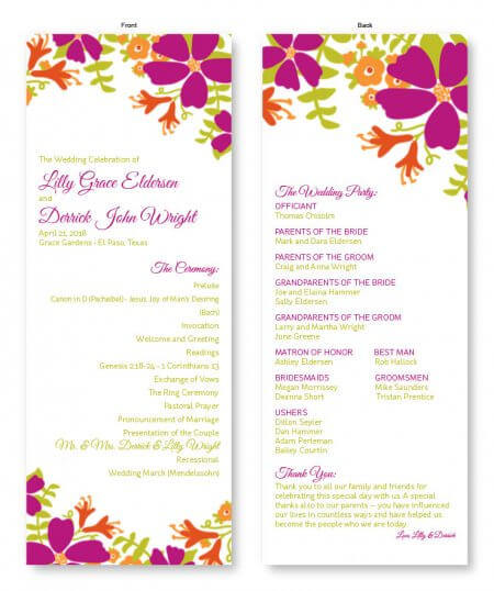 Wedding Program Example.What S A Wedding Program And Why Is It Important