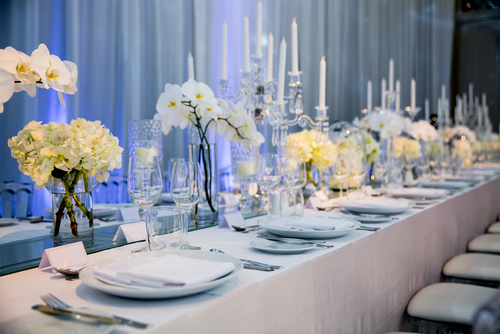 elegant wedding dinner table