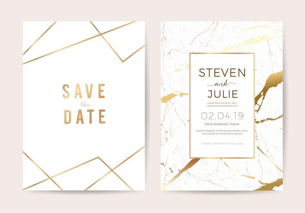 luxury wedding invites marble texture