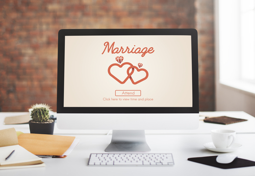 marriage love screen computer