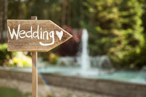 wedding decor wooden sign