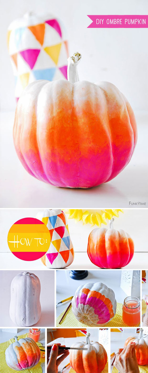 diy project: ombre pumpkins by funkytime