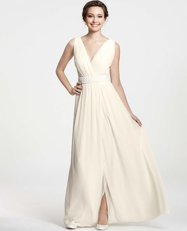 wedding gowns under $1000: budget-friendly ann taylor dress