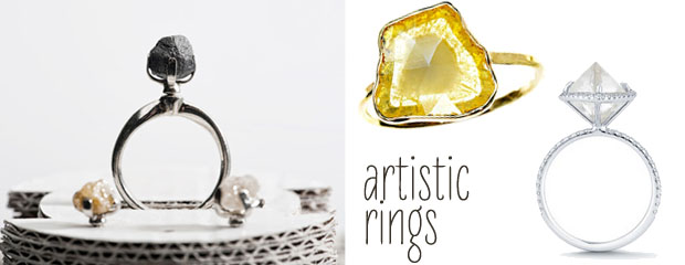 artistic engagement rings