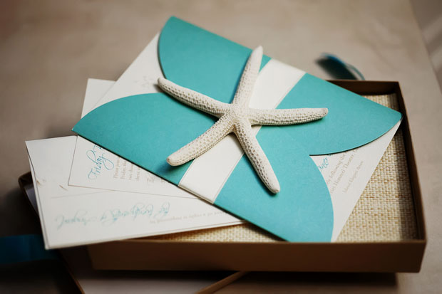 ava coastal shimmer couture wedding invitation