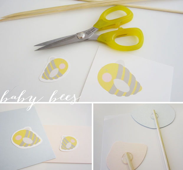 what will baby bee?  reveal party cake toppers