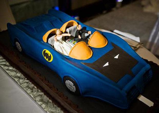 bat mobile grooms cake