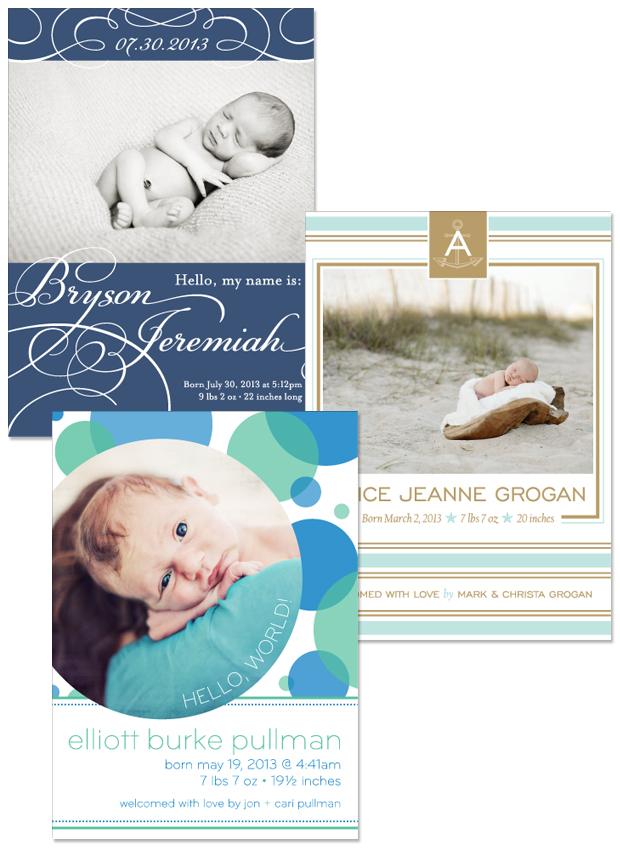 New Birth Announcement designs