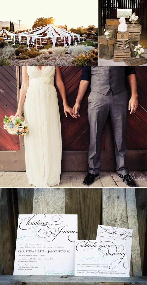 elegant rustic wedding inspiration board