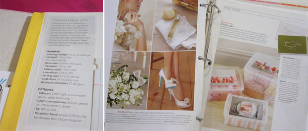 wedding planning binder tips