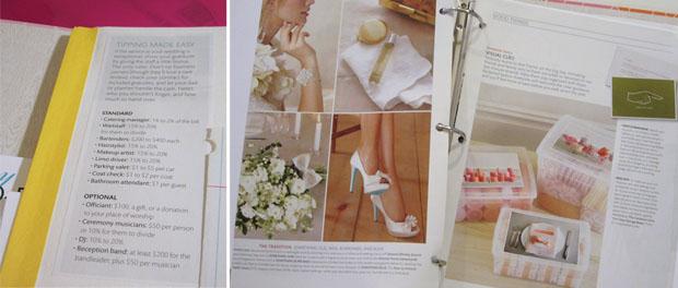 wedding planning binder tips