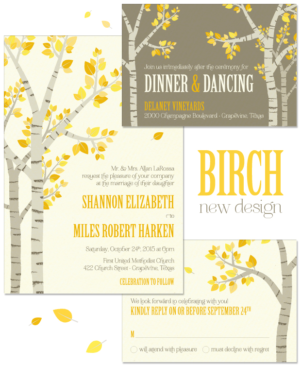 Birch Wedding Invitation